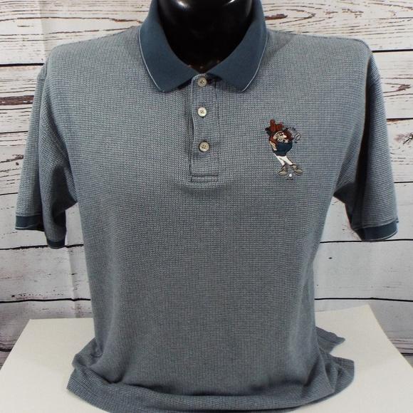 f5d262e5 Warner Bros Shirts Tasmanian Devil Cartoon Character Polo Shirt M  Rhposhmark: Cartoon Golf Shirt At